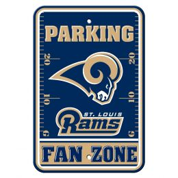 St. Louis Rams NFL Team Logo Plastic Parking Sign Fan Zone