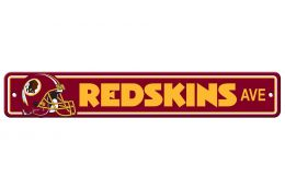 Washington Redskins NFL Team Logo Plastic Street Sign