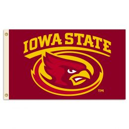 Iowa State Cyclones School Logo 2-Sided 3' x 5' Flag w/Grommets