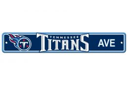 Tennessee Titans NFL Team Logo Plastic Street Sign Blue & White