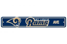 St. Louis Rams NFL Team Logo Blue & Gold Plastic Street Sign