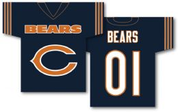 "Chicago Bears Jersey Banner 34"" x 30"" 2-Sided NFL Team Logo"