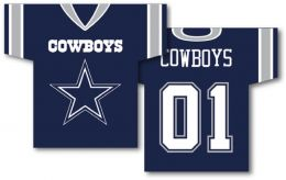 "Dallas Cowboys Jersey Banner 34"" x 30"" 2-Sided NFL Team Logo"
