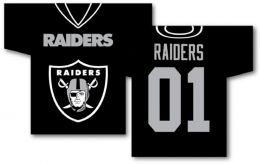 "Oakland Raiders Jersey Banner 34"" x 30"" 2-Sided NFL Team Logo"