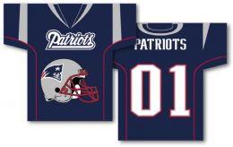"New England Patriots Jersey Banner 34"" x 30"" 2-Sided NFL Logo"