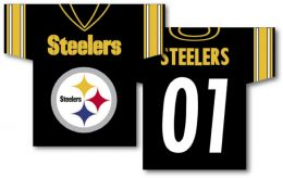 "Pittsburgh Steelers NFL Team Logo Jersey Banner 34"" x 30"" 2-Sided"