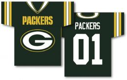 "Green Bay Packers NFL Team Logo Jersey Banner 34"" x 30"" 2-Sided"