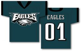 "Philadelphia Eagles NFL Team Logo Jersey Banner 34"" x 30"" 2-Sided"