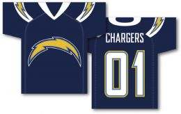 "San Diego Chargers NFL Team Logo Jersey Banner 34"" x 30"" 2-Sided"
