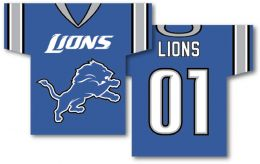 "Detroit Lions NFL Team Logo Jersey Banner 34"" x 30"" 2-Sided"