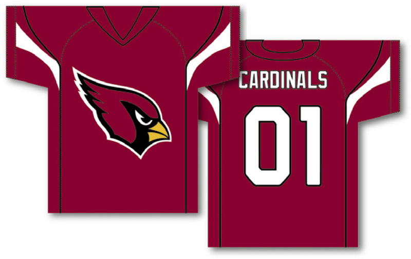 Wholesale Arizona Cardinals NFL Jersey 34 x 30 2 Sided Jersey Banner  for sale