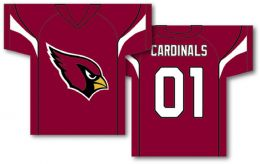 "Arizona Cardinals NFL Jersey  34"" x 30"" 2-Sided Jersey Banner"