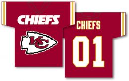 "Kansas City Chiefs NFL Team Logo Jersey Banner 34"" x 30"" 2-Sided"