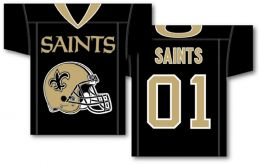 "New Orleans Saints NFL Team Logo Jersey Banner 34"" x 30"" 2-Sided"