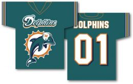 "Miami Dolphins Jersey Banner 34"" x 30"" 2-Sided Team Logo"