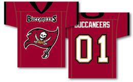 "Tampa Bay Buccaneers NFL Team Logo Jersey Banner 34"" x 30"" 2-Sided"