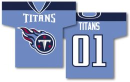 "Tennessee Titans NFL Team Logo Jersey Banner 34"" x 30"" 2-Sided"