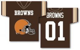 "Cleveland Browns Jersey Banner 34"" x 30"" 2-Sided NFL Logo"