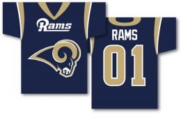 "St. Louis Rams NFL Team Logo Jersey Banner 34"" x 30"" 2-Sided"
