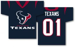 "Houston Texans NFL Team Logo Jersey Banner 34"" x 30"" 2-Sided"