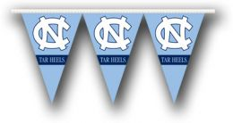 North Carolina Tar Heels College Logo 25 Ft. Party Pennant Flags