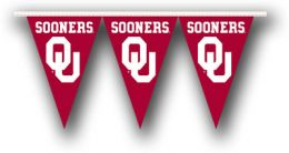 Oklahoma Sooners College Team Logo 25 Ft. Party Pennant Flags
