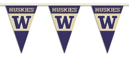 Washington Huskies College Team Logo 25 Ft. Party Pennant Flags
