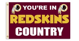 Washington Redskins NFLTeam Logo 3' x 5' Flag w/Grommetts