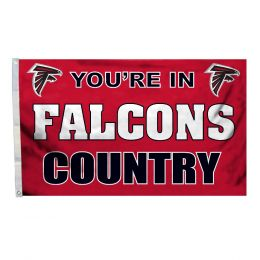 You're In Atlanta Falcons Country NFL 3' x 5' Flag w/Grommetts