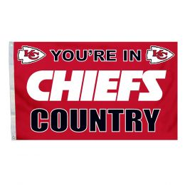 Kansas City Chiefs 3' x 5' Flag w/Grommetts NFL Team Logo