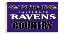 Baltimore Ravens NFL Team Logo 3' x 5' Flag w/Grommetts