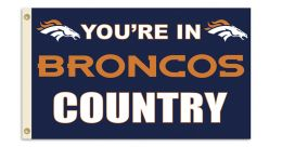 Denver Broncos NFL Team Logo 3' x 5' Flag w/Grommetts
