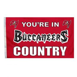 Tampa Bay Buccaneers NFL Logo 3' x 5' Flag w/Grommetts Red & Black