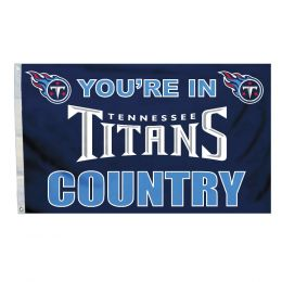 Tennessee Titans Team Logo Blue & White 3' x 5' Flag w/Grommetts