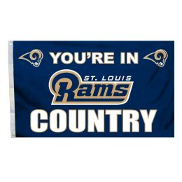 St. Louis Rams NFL Logo Blue & Gold 3' x 5' Flag w/Grommetts