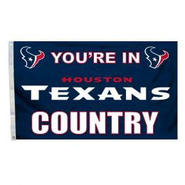 Houston Texans NFL Team Logo 3' x 5' Flag w/Grommetts