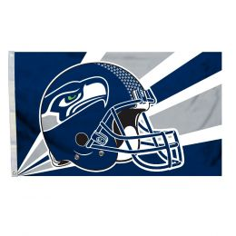 Seattle Seahawks NFL Team Logo 3' x 5' Flag w/Grommetts