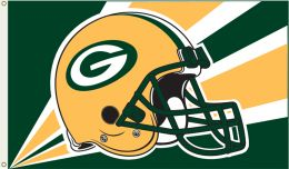 Green Bay Packers NFL Logo 3' x 5' Flag w/Grommetts Green & Gold