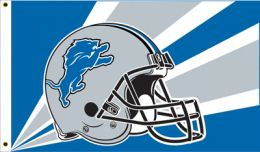 Detroit Lions NFL Team Logo 3' x 5' Flag w/Grommetts