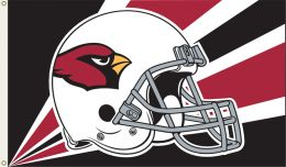 Arizona Cardinals 3' x 5' Helmet & NFL Logo Flag w/Grommetts