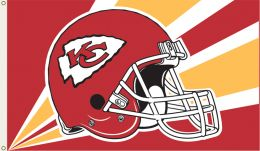Kansas City Chiefs NFL Team Logo 3' x 5' Flag w/Grommetts