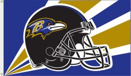 Baltimore Ravens 3' x 5' Flag w/Grommetts NFL Logo Gold & Purple