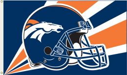 Denver Broncos 3' x 5' Flag w/Grommetts NFL Team Logo