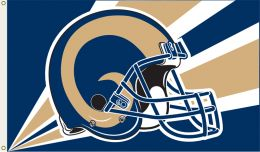St. Louis Rams 3' x 5' Flag w/Grommetts NFL Blue & Gold