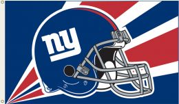 New York Giants NFL Logo 3' x 5' Flag w/Grommetts Red & Blue