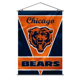 Chicago Bears Wall Banner NFL Team Logo Blue & Orange