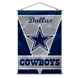Dallas Cowboys Wall Banner NFL Team Logo Blue & Silver
