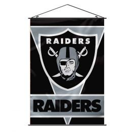Oakland Raiders Wall Banner NFL Team Logo Black & Silver