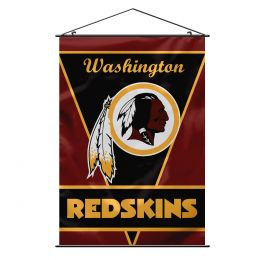 Washington Redskins Team Logo Wall Banner w/ Hanger String