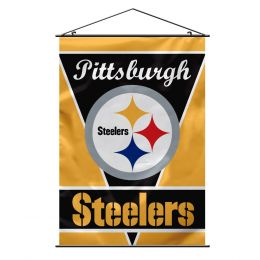 Pittsburgh Steelers Wall Banner w/ Hanger String NFL Team Logo